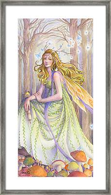 Lady Of The Forest Framed Print by Sara Burrier