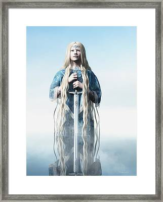 Lady Of The Lake Framed Print by Melissa Krauss
