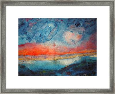 Lady Of  The Lake Framed Print by Studio Tolere