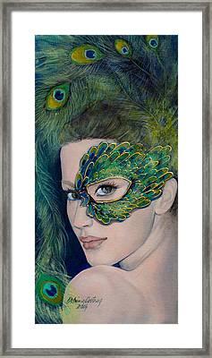 Lady Peacock Framed Print by Dorina  Costras