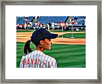 Lady Phanatic Framed Print by Alice Gipson