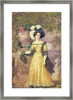 Lady Rowe Framed Print by Isaac Mendes Belisario