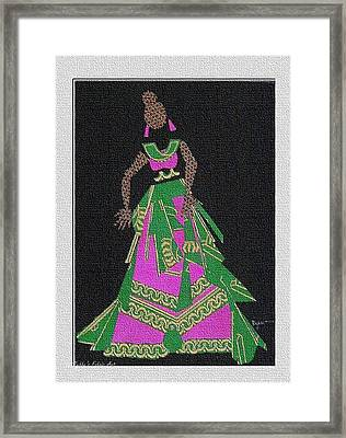 Lady Singer Framed Print by Ruth Yvonne Ash