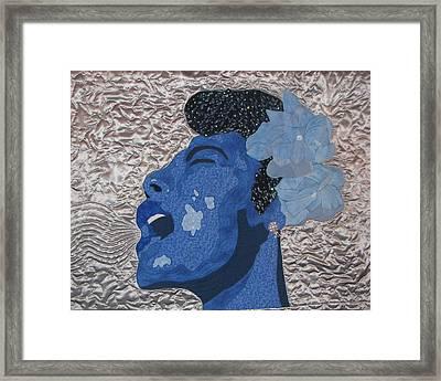 Lady Sings Framed Print by Aisha Lumumba