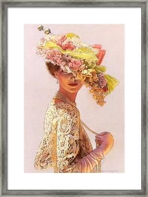 Lady Victoria Victorian Elegance Framed Print by Sue Halstenberg