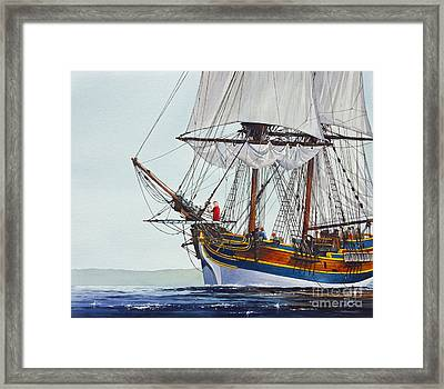 Lady Washington And Captain Gray Framed Print by James Williamson
