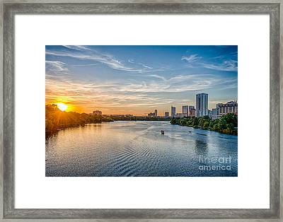 Ladybird Lake At Sunset Framed Print by Tod and Cynthia Grubbs