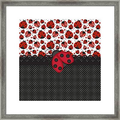 Ladybug Mood  Framed Print by Debra  Miller