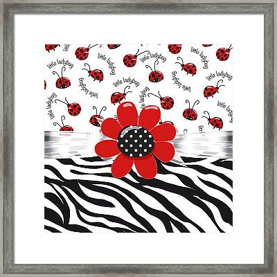 Ladybug Wild Thing Framed Print by Debra  Miller