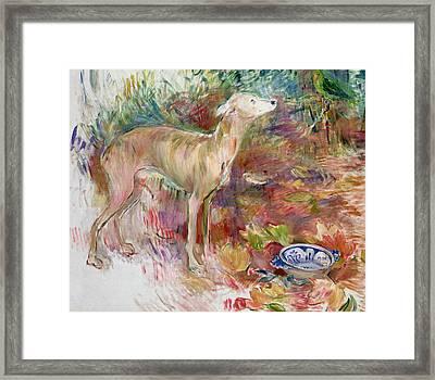 Laerte The Greyhound Framed Print by Berthe Morisot