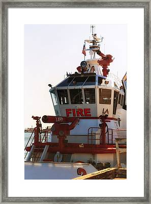 Lafd Fire Boat 2 San Pedro Ca Framed Print by Thomas Woolworth