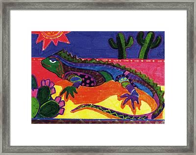 Lagarto Framed Print by Claire Bistline