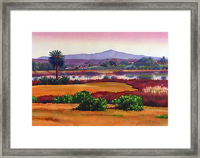 Lago Lindo Rancho Santa Fe Dusk Framed Print by Mary Helmreich