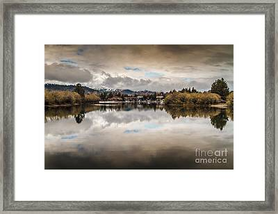 Lagoon At Cove East Framed Print by Mitch Shindelbower