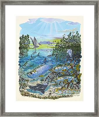 Lagoon Framed Print by Carey Chen