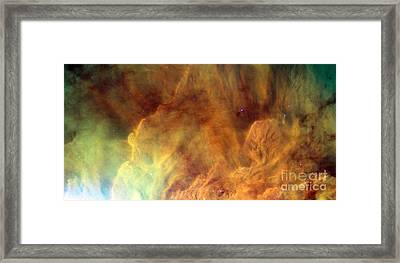 Lagoon Nebula M8 Framed Print by Science Source
