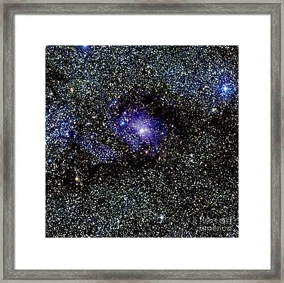 Lagoon Nebula Framed Print by Science Source