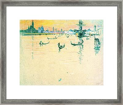 Lagoon Venice Italy 1909 Framed Print by Padre Art