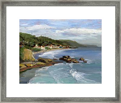 Laguna Beach Framed Print by Alice Leggett