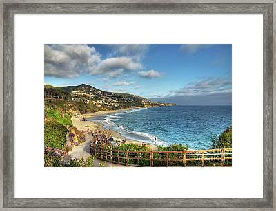 Laguna Beach Shoreline Framed Print by Eddie Yerkish