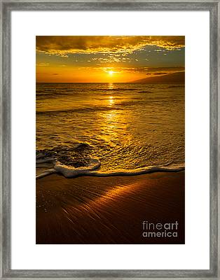 Water Reflections Framed Print featuring the photograph Lahaina Glow by Jamie Pham