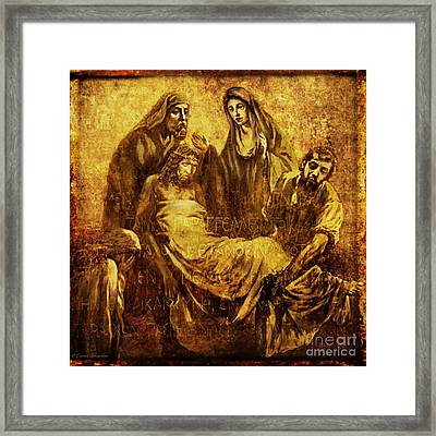 Laid_in_the_tomb Via Dolorosa 14 Framed Print by Lianne Schneider
