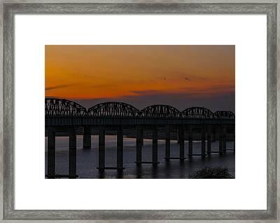 Lake Amistad Sunset Framed Print by Amber Kresge