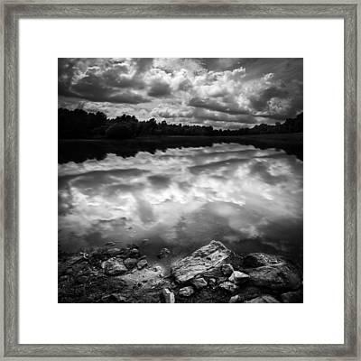 Lake Auburn Twilight Framed Print by Bob Orsillo