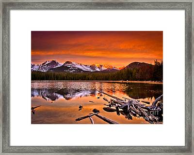 Lake Bierstadt In The Morn Framed Print by Steven Reed