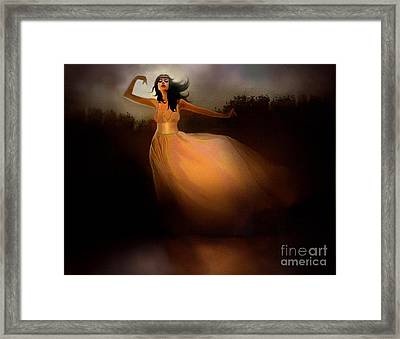 Lake Dancer Framed Print by Robert Foster