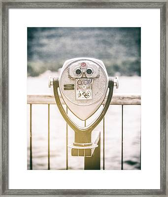 Lake George Through The Viewfinder Framed Print by Lisa Russo