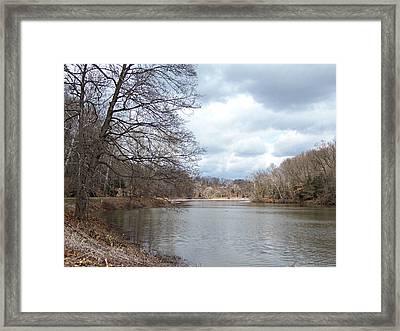 Lake Glacier Framed Print by Monnie Ryan