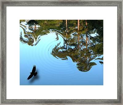 Lake Hair Framed Print by Joseph Tese