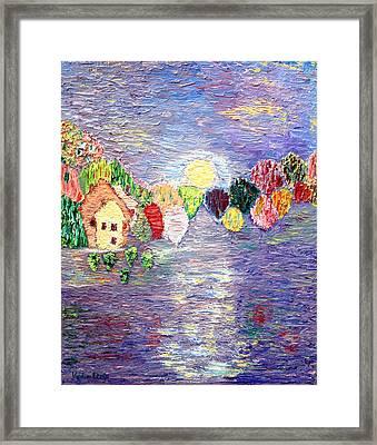 Lake House Framed Print by Vadim Levin