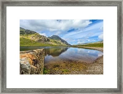Lake Idwal Framed Print by Adrian Evans