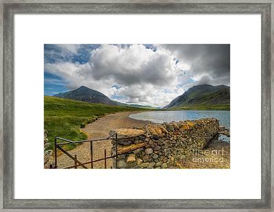 Lake Idwal Gate Framed Print by Adrian Evans