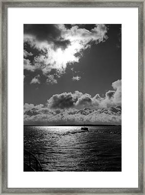 Lake Of The Woods In Moon Light Framed Print by Donald  Erickson