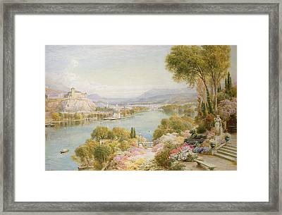 Lake Maggiore Framed Print by Ebenezer Wake-Cook
