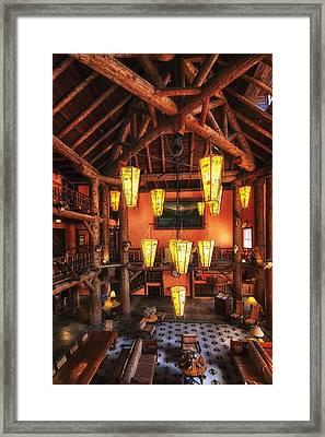 Lake Mcdonald Lodge Framed Print by Mark Kiver