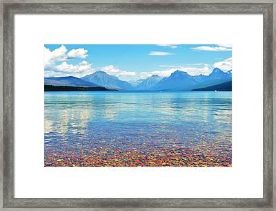Lake Mcdonald Framed Print by Shannon Lee