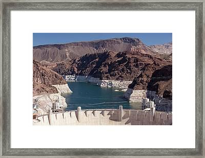 Lake Mead Dam And Hydro Plant Framed Print by Ashley Cooper