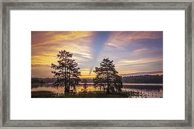Lake Music Framed Print by Steve DuPree