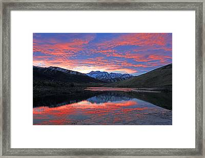 Lake Of Fire Framed Print by Johnny Adolphson