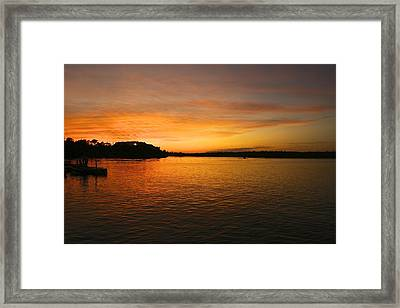Lake Of The Woods Framed Print by Andrew Johnson