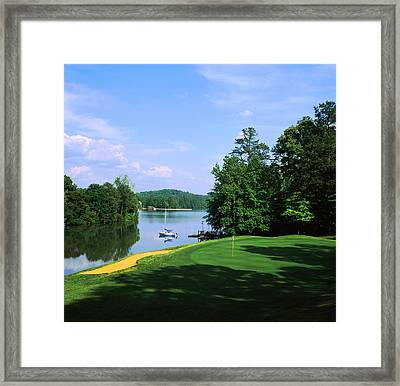 Lake On A Golf Course, Legend Course Framed Print by Panoramic Images