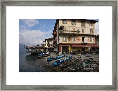 Lake Orta Orta San Giulio Framed Print by Frank Bach