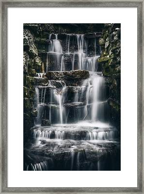 Lake Park Waterfall 2 Framed Print by Scott Norris