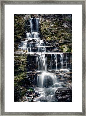 Lake Park Waterfall Framed Print by Scott Norris