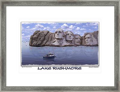 Lake Rushmore Framed Print by Mike McGlothlen