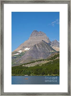 Lake Sherburne In Glacier National Park Framed Print by Natural Focal Point Photography